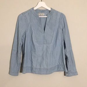 Madewell Denim Cotton Blouse
